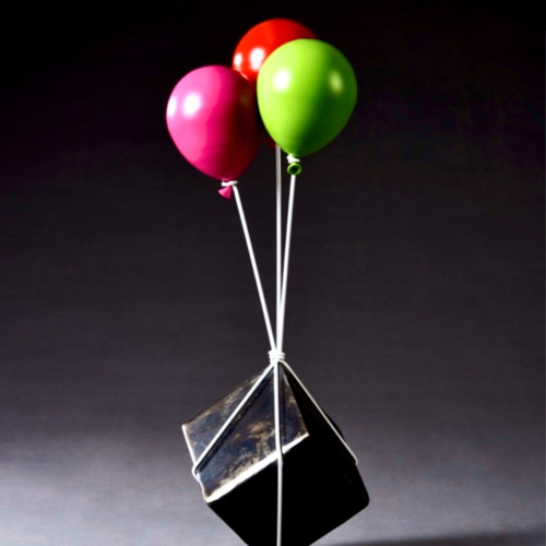 Balloons and Stone Cube